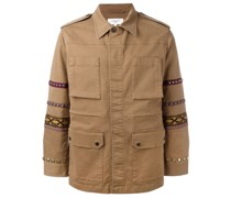 Military-Jacke mit bestickten Ärmeln