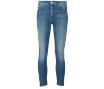 Skinny-Jeans mit Fransen