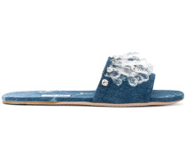 Sandalen in Distressed-Optik
