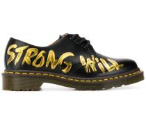 Bemalte 'Strong Will' Oxford-Schuhe
