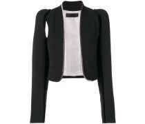 velvet trim cutout jacket