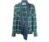 Kimono-Hemd mit Jeansbesatz