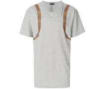 T-Shirt mit Trompe-l'œil-Print