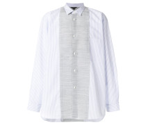 panelled loose-fit shirt