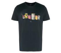 T-Shirt mit Ölkannen-Print