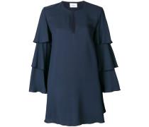 Lockeres Kleid mit Volant-Ärmeln