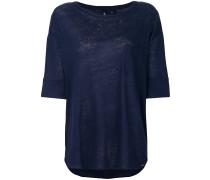 Weites Leinen-T-Shirt