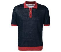 Leinen-Poloshirt in Colour-Block-Optik
