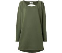 Sweatshirtkleid mit Rückenausschnitt