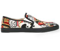 Slip-On-Sneakers mit Spielkartenmotiv