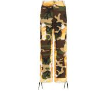 Cargohose mit Camouflage-Print