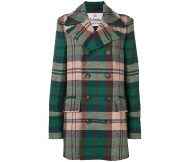 tartan double-breasted coat