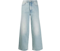 high-rise cropped jeans