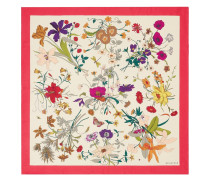 Silk scarf with Flora Gothic print