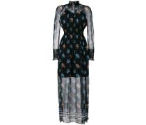 patterned sheer dress