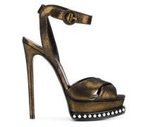 Sandale mit Metallic-Effekt