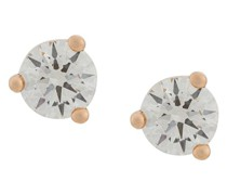 18kt rose  Dots Solitare round diamond stud earrings