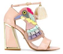 Sandalen mit Vogel