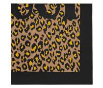 Seidenschal mit Leoparden-Print