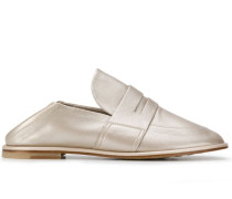 Flache Metallic-Loafer
