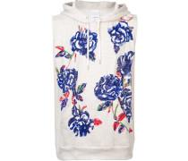 rose sequin sleeveless hoodie