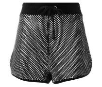 Velours-Shorts mit Swarovski-Kristallen