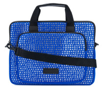 Laptop-Tasche mit Monogrammuster