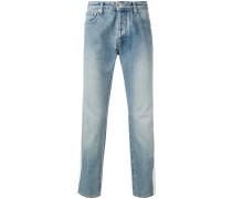 Schmale Jeans mit Streifen