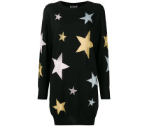 star intarsia knit dress