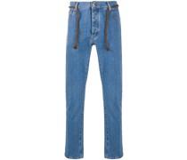 'Ilya' Skinny-Jeans mit Seilgürtel