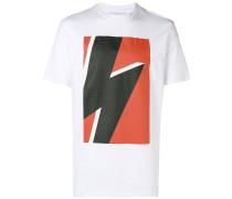 T-Shirt mit Blitz-Print