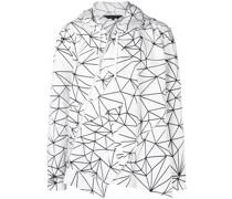 Asymmetrische Jacke mit geometrischem Print