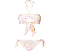 Bedruckter Bandeau-Bikini