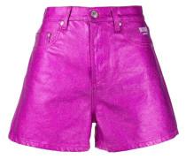 Metallic-Shorts mit hohem Bund