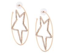 Gabi rhinestone-embellished hoop earrings