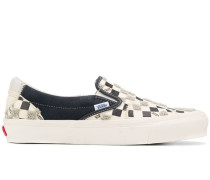 checkered plimsoll sneakers