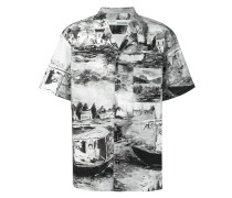 Hemd mit Fluss-Print