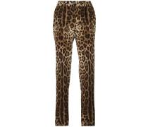 Pyjamahose mit Leopardenmuster