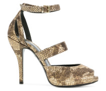 snakeskin effects sandals
