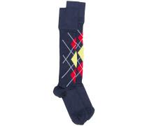 Socken mit Argyle-Muster