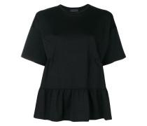 peplum shortsleeved blouse