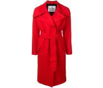 oversized lapel belted coat