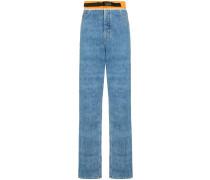 Jeans mit geradem Saum