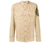 overshirt distressed jacket