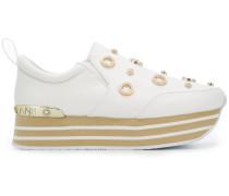embellished platform sneakers