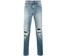 Bikerjeans in Distressed-Optik