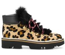 Stiefeletten mit Leopardenmuster