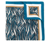 feather print pocket square