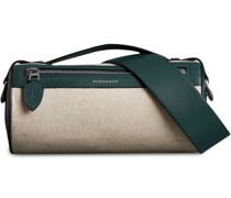 The Cotton Linen and Leather Barrel Bag