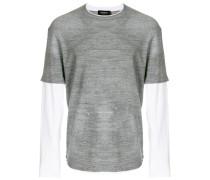 Meliertes T-Shirt mit Farbklecksen